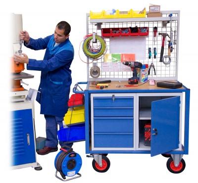 servante d 39 atelier quip e 1 bloc porte et 1 bloc tiroirs fimm fabrication industrielle de. Black Bedroom Furniture Sets. Home Design Ideas